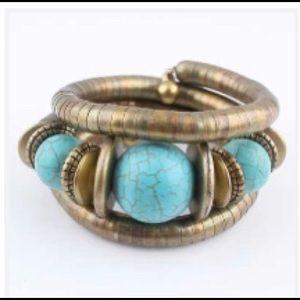 Boho Turquoise Bangle Bracelet NEW